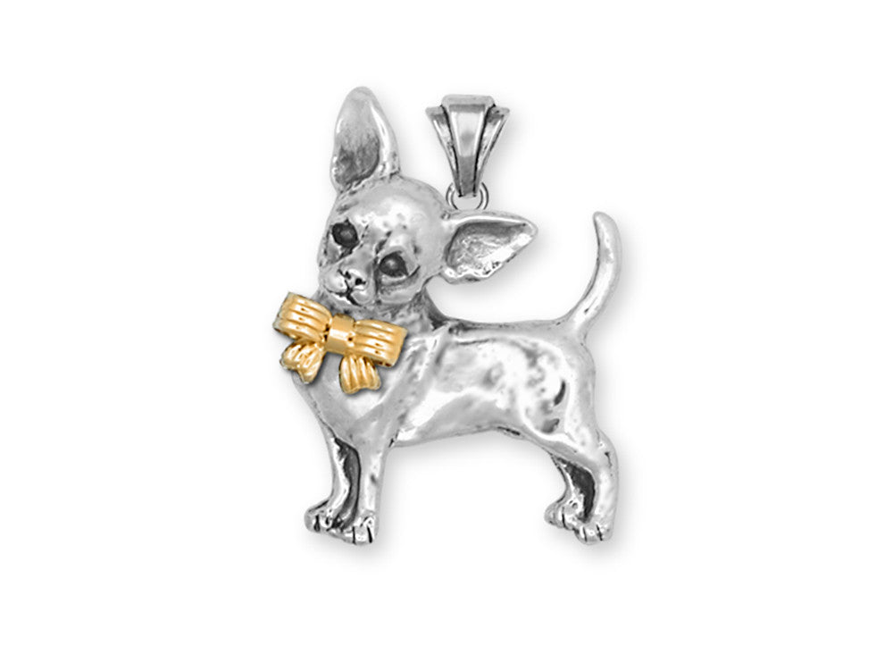Chihuahua Charms Chihuahua Pendant Sterling Silver Dog Jewelry Chihuahua jewelry