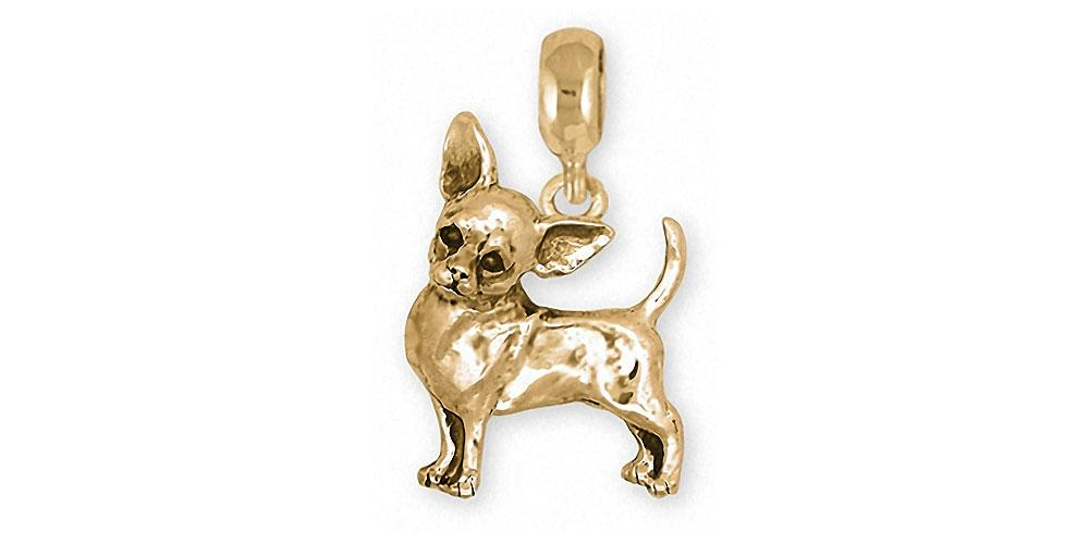 Chihuahua Charms Chihuahua Charm Slide 14k Gold Dog Jewelry Chihuahua jewelry