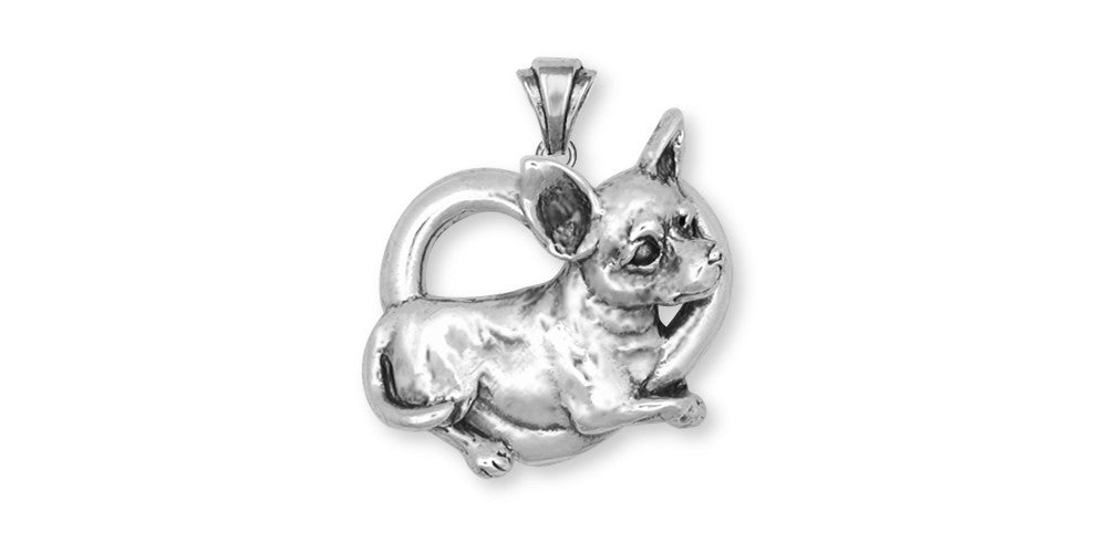 Chihuahua Dog Charms Chihuahua Dog Pendant Handmade Sterling Silver Dog Jewelry Chihuahua Dog jewelry