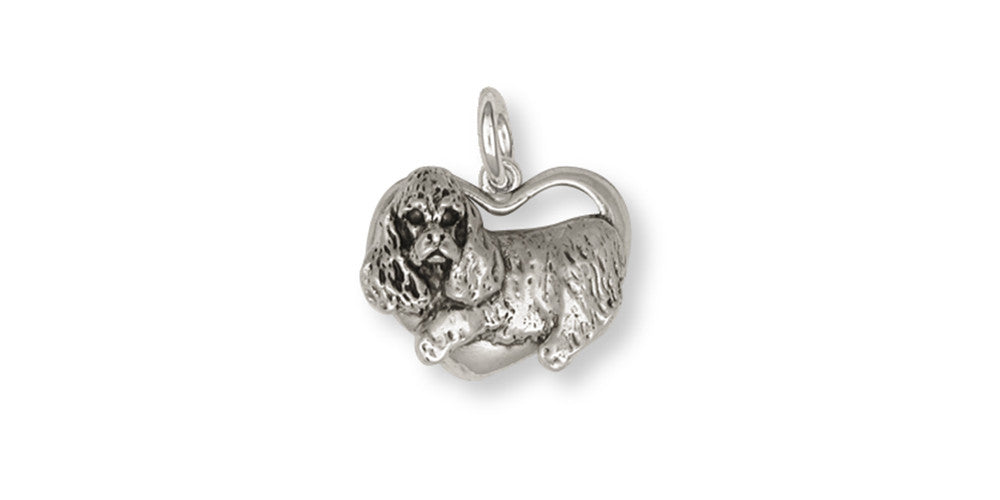 Cocker Spaniel Charms Cocker Spaniel Charm Handmade Sterling Silver Dog Jewelry Cocker Spaniel jewelry