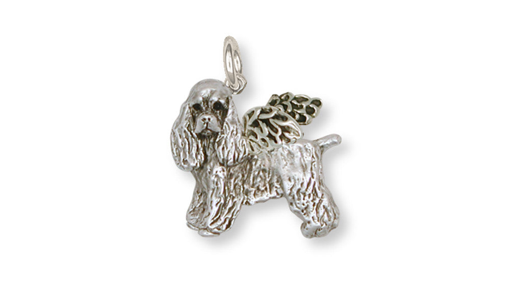 Cocker Spaniel Angel Charms Cocker Spaniel Angel Charm Handmade Sterling Silver Dog Jewelry Cocker Spaniel Angel jewelry