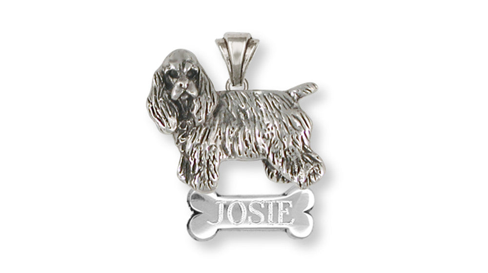 Cocker Spaniel Charms Cocker Spaniel Personalized Pendant Handmade Sterling Silver Dog Jewelry Cocker Spaniel jewelry
