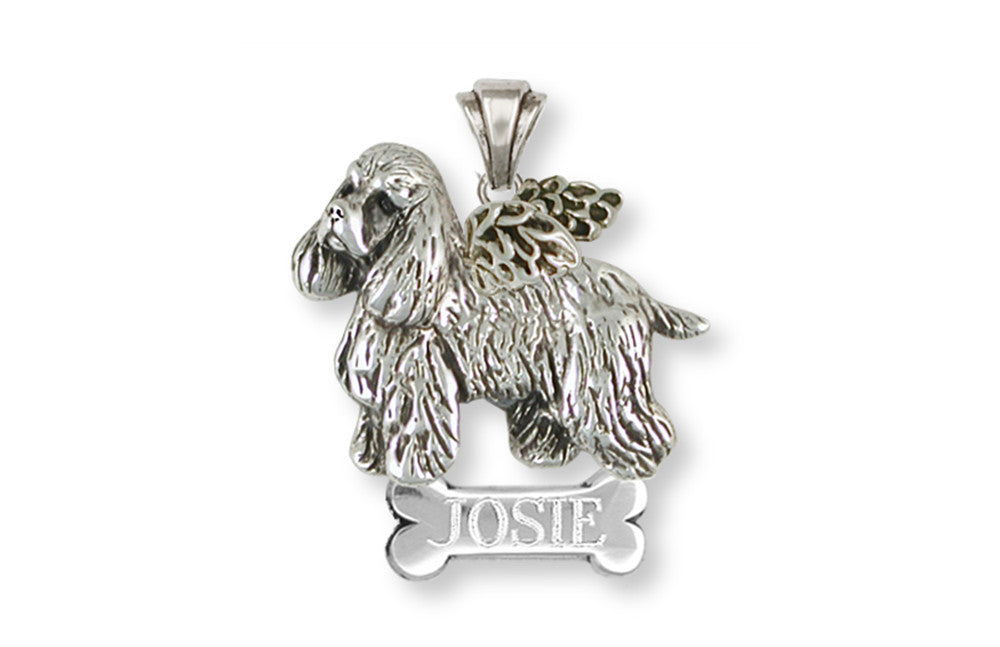 Cocker Spaniel Angel Charms Cocker Spaniel Angel Pendant Handmade Sterling Silver Dog Jewelry Cocker Spaniel Angel jewelry