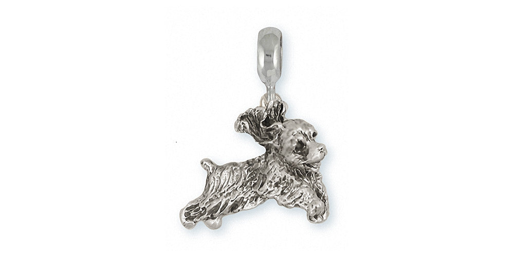 Cocker Spaniel Charms Cocker Spaniel Charm Slide Sterling Silver Dog Jewelry Cocker Spaniel jewelry