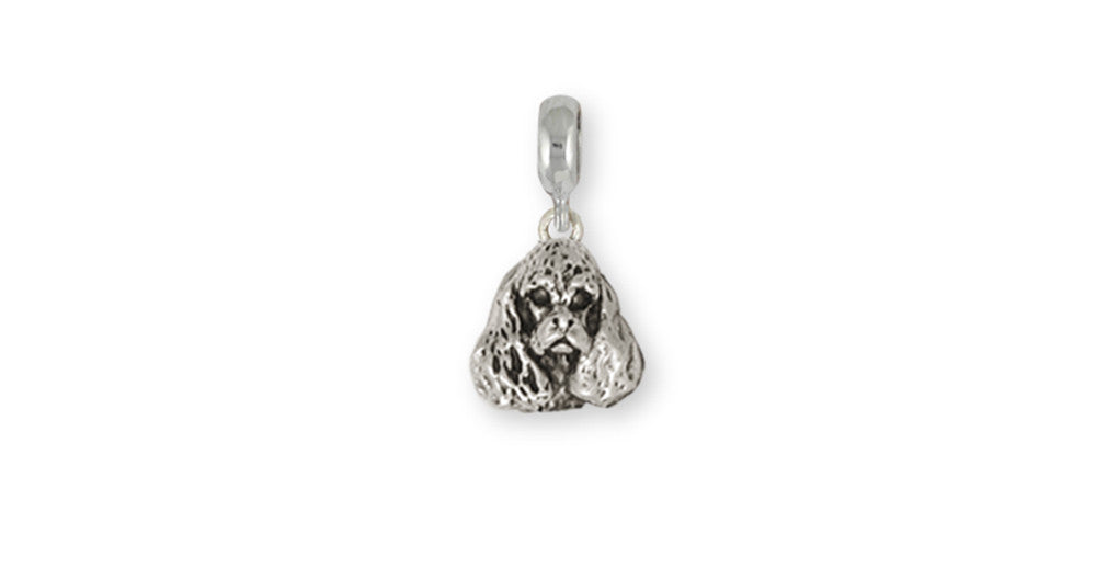 Cocker Spaniel Charms Cocker Spaniel Charm Slide Handmade Sterling Silver Dog Jewelry Cocker Spaniel jewelry