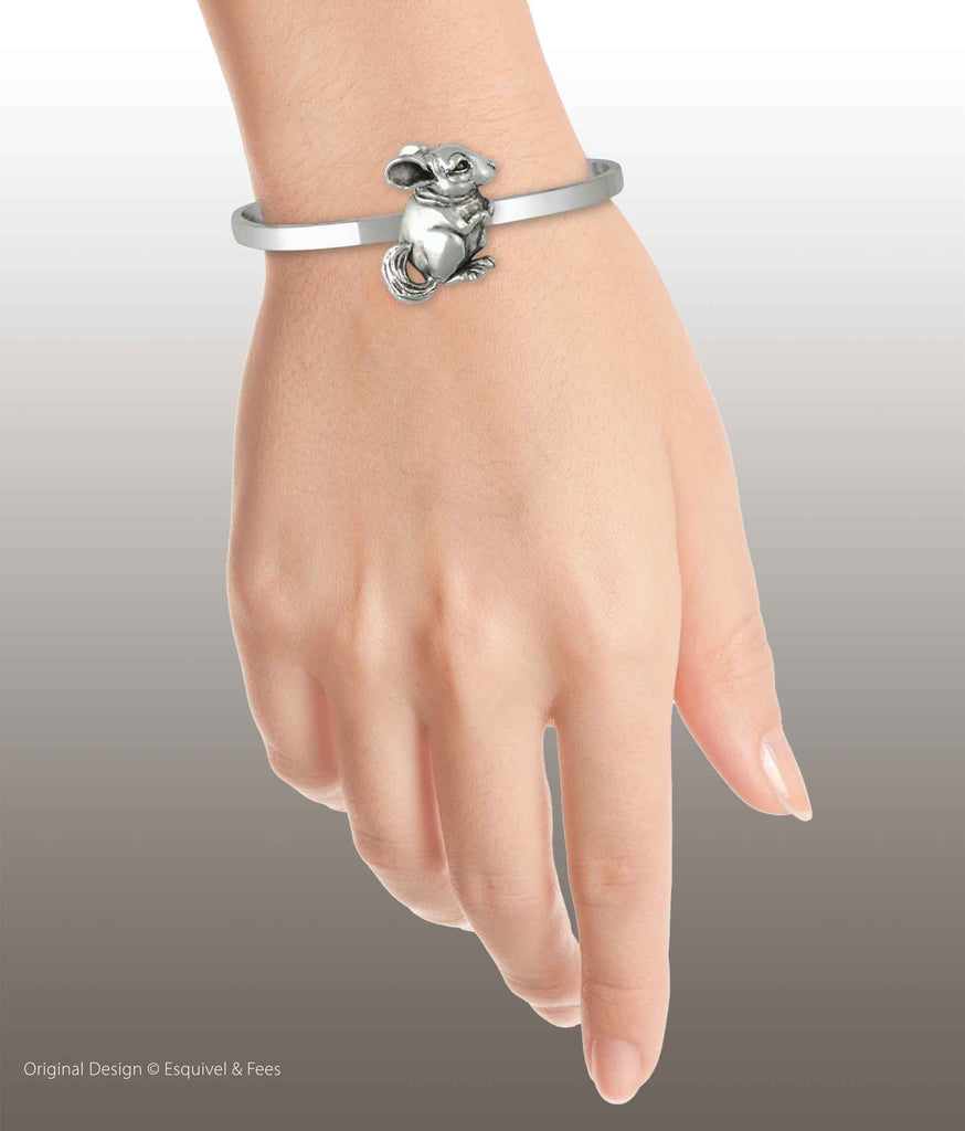 Chinchilla Jewelry Sterling Silver Handmade Chinchilla Bracelet  CL1-CB