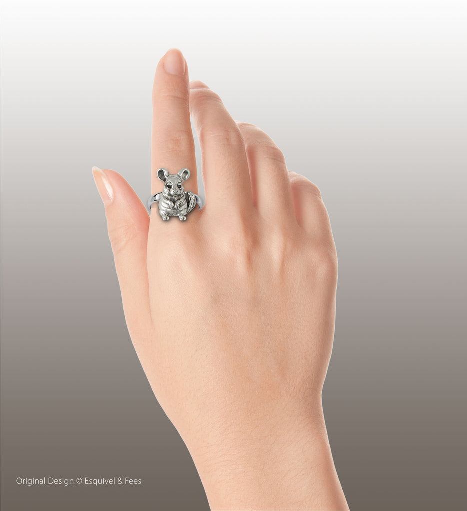 Chinchilla Jewelry Sterling Silver Handmade Chinchilla Ring  CL10-R