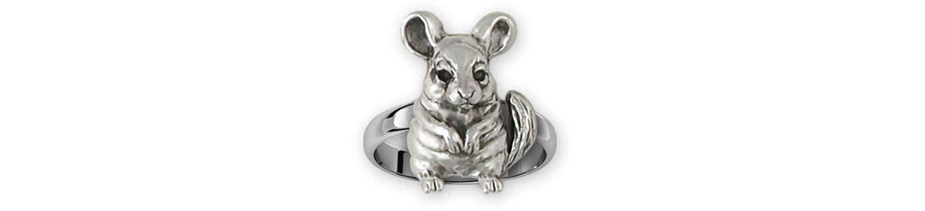 Chinchilla Charms Chinchilla Ring Sterling Silver Chinchilla Jewelry Chinchilla jewelry