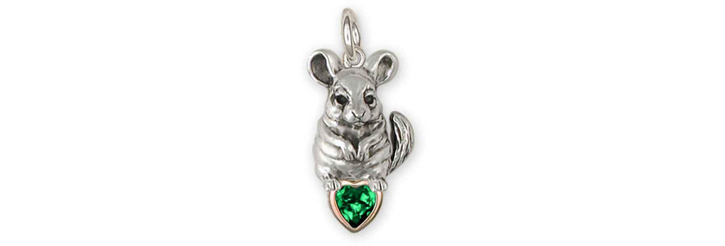 Chinchilla Charms Chinchilla Charm Sterling Silver Chinchilla Birthstone Jewelry Chinchilla jewelry