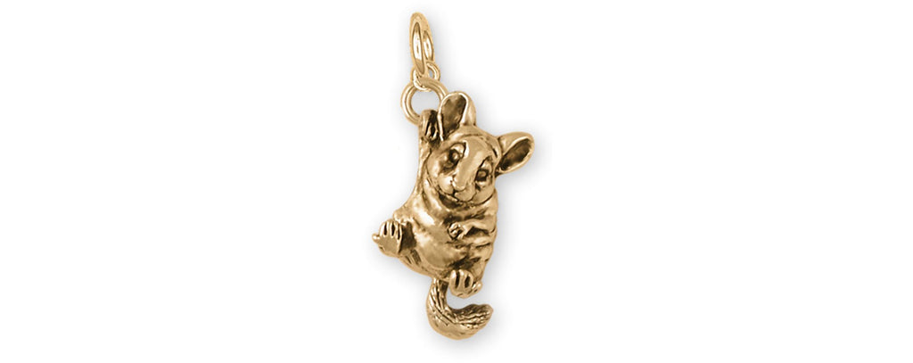 Chinchilla Charms Chinchilla Charm 14k Gold Chinchilla Jewelry Chinchilla jewelry