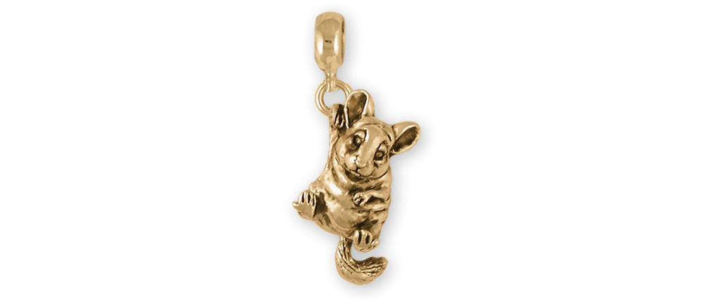 Chinchilla Charms Chinchilla Charm Slide 14k Gold Chinchilla Jewelry Chinchilla jewelry