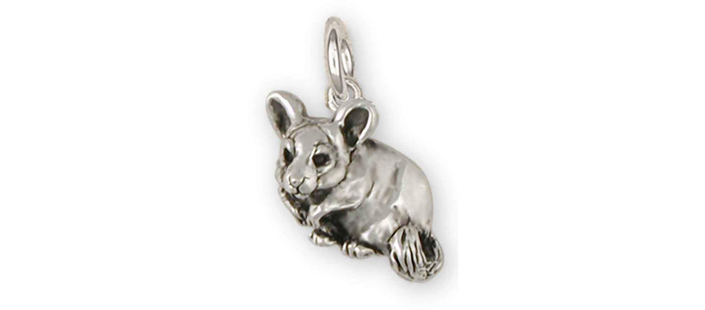 Chinchilla Charms Chinchilla Charm Sterling Silver Chinchilla Jewelry Chinchilla jewelry