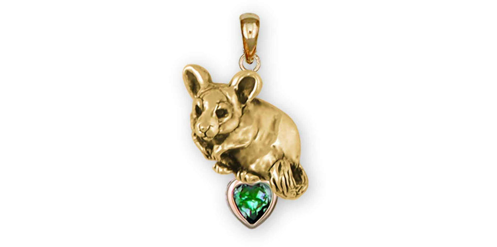 Chinchilla Charms Chinchilla Pendant 14k Gold Chinchilla Jewelry Chinchilla jewelry