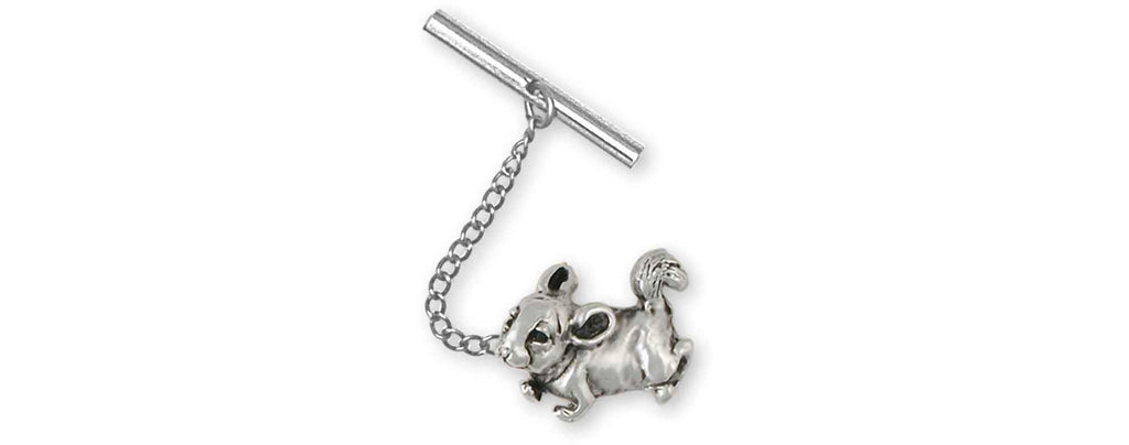Chinchilla Charms Chinchilla Tie Tack Sterling Silver Chinchilla Jewelry Chinchilla jewelry