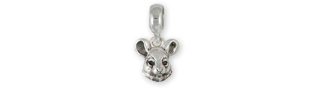 Chinchilla Charms Chinchilla Charm Slide Sterling Silver Chinchilla Jewelry Chinchilla jewelry