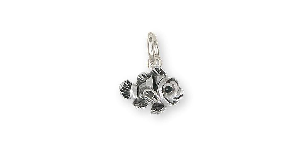 Clownfish Charms Clownfish Charm Sterling Silver Clownfish Jewelry Clownfish jewelry