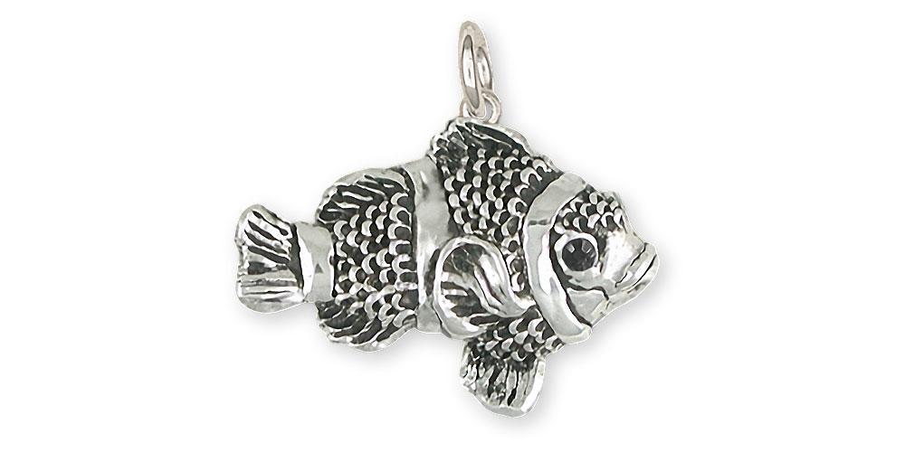 11eb10a95 Clownfish Charms Clownfish Charm Sterling Silver Clownfish Jewelry  Clownfish jewelry