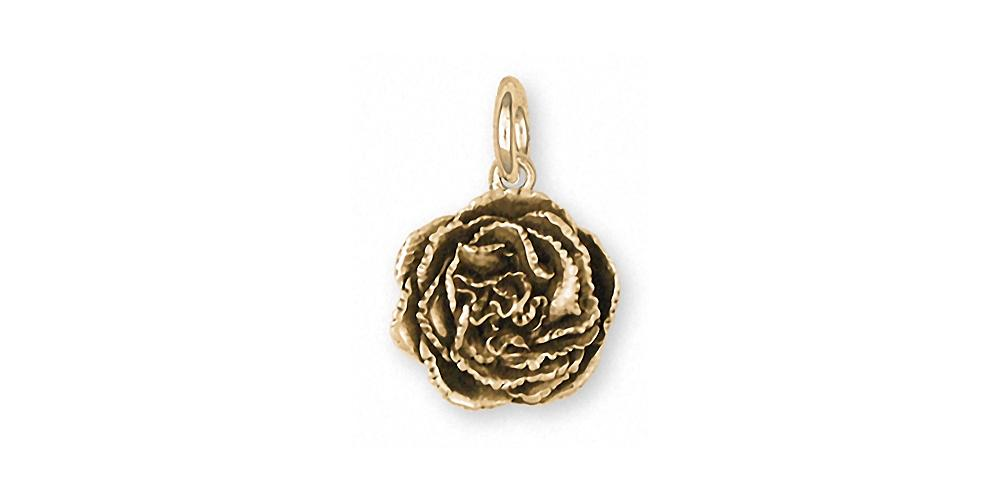 Carnation Charms Carnation Charm 14k Gold Flower Jewelry Carnation jewelry
