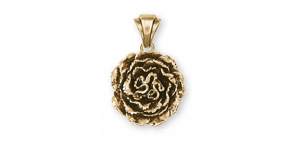 Carnation Charms Carnation Pendant 14k Gold Flower Jewelry Carnation jewelry