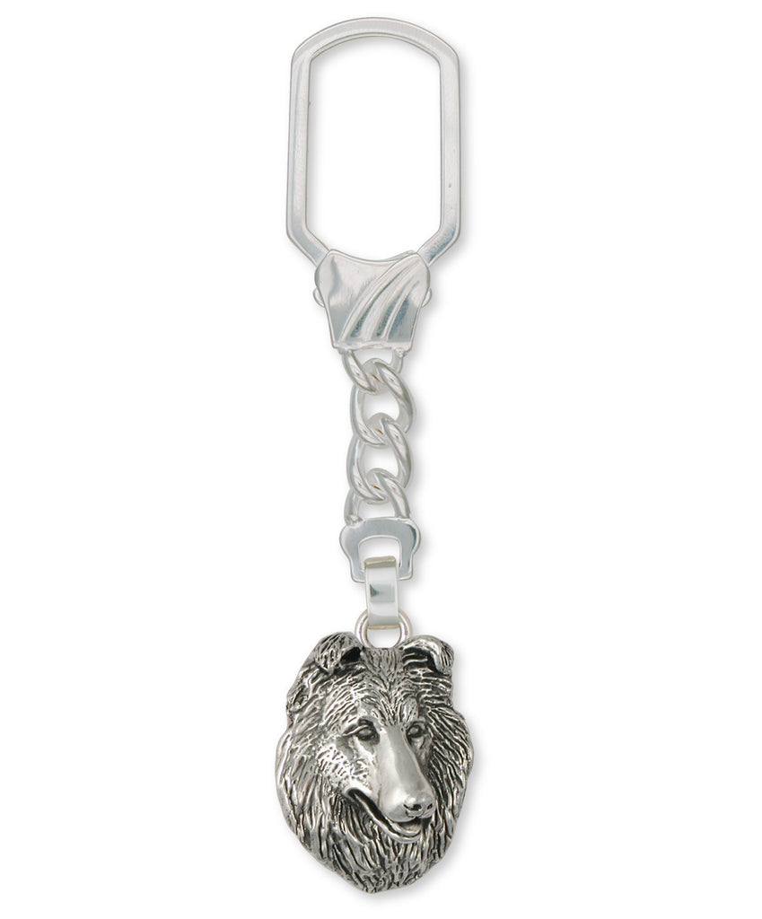 Collie Charms Collie Key Ring Sterling Silver Dog Jewelry Collie jewelry
