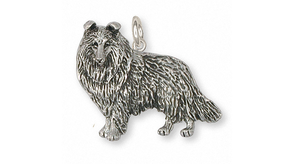 Collie Charms Collie Charm Sterling Silver Dog Jewelry Collie jewelry