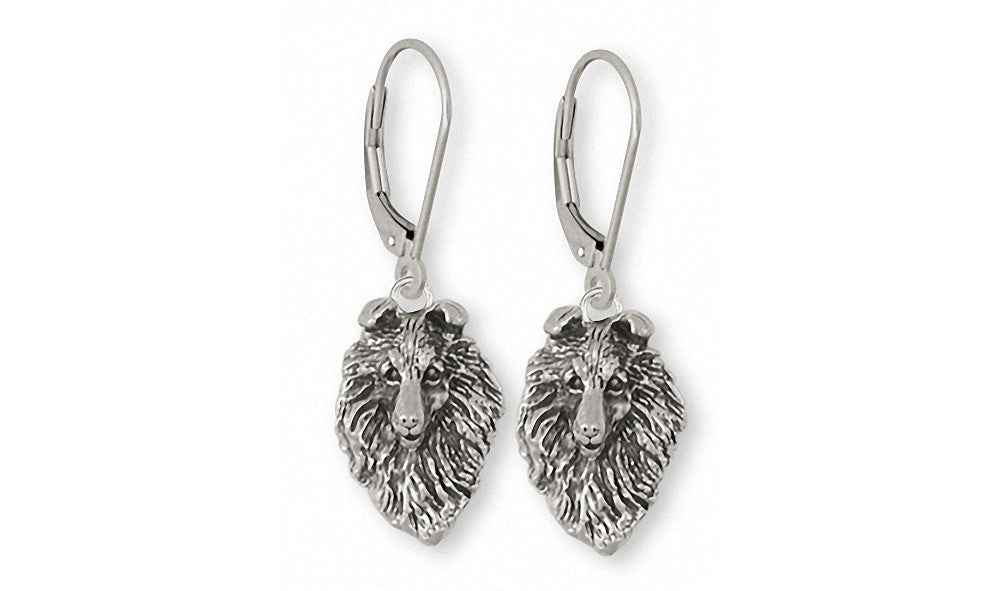 Collie Charms Collie Earrings Sterling Silver Dog Jewelry Collie jewelry