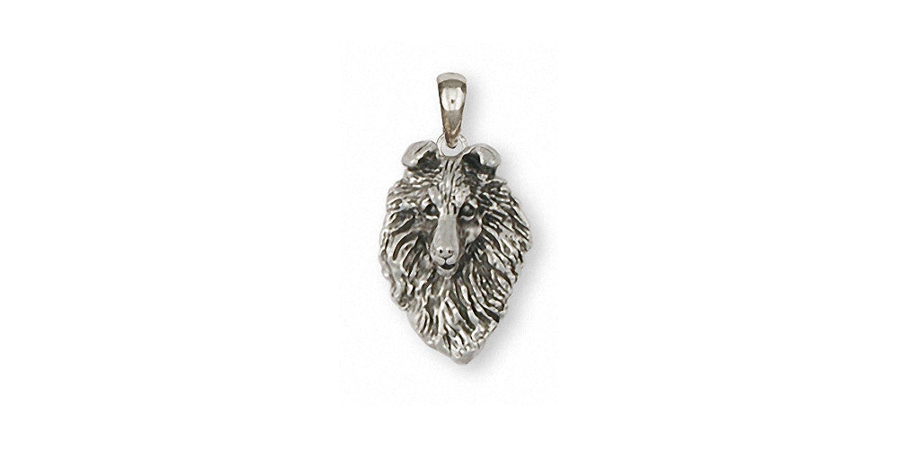 Collie Charms Collie Pendant Sterling Silver Dog Jewelry Collie jewelry