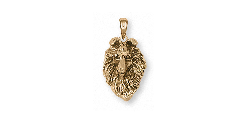 Collie Charms Collie Pendant 14k Gold Dog Jewelry Collie jewelry