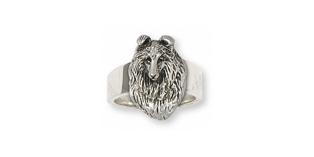 Collie Charms Collie Ring Sterling Silver Dog Jewelry Collie jewelry