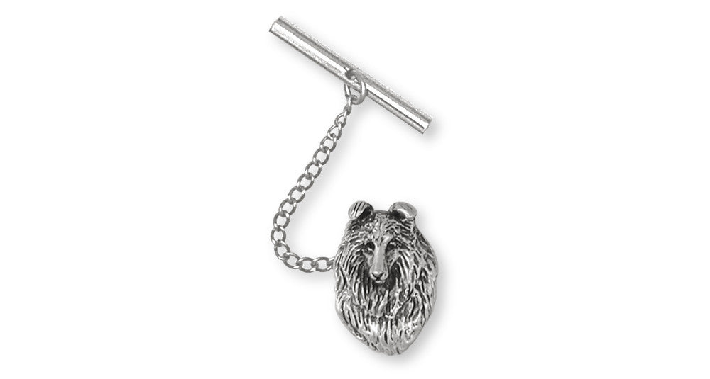 Collie Charms Collie Tie Tack Sterling Silver Dog Jewelry Collie jewelry