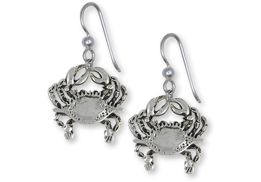 Crab Charms Crab Earrings Sterling Silver Crab Jewelry Crab jewelry