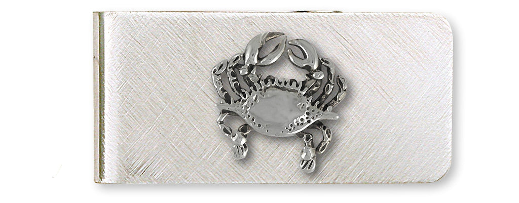 Crab Charms Crab Money Clip Sterling Silver And Stainless Steel Crab Jewelry Crab jewelry