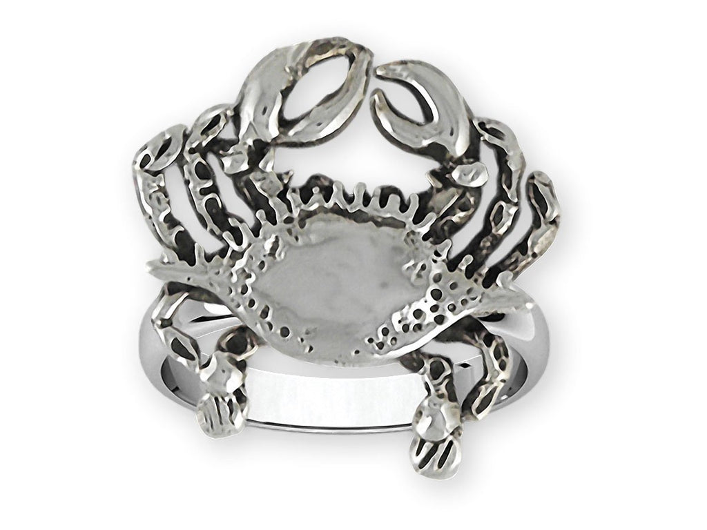 Crab Charms Crab Ring Sterling Silver Crab Jewelry Crab jewelry