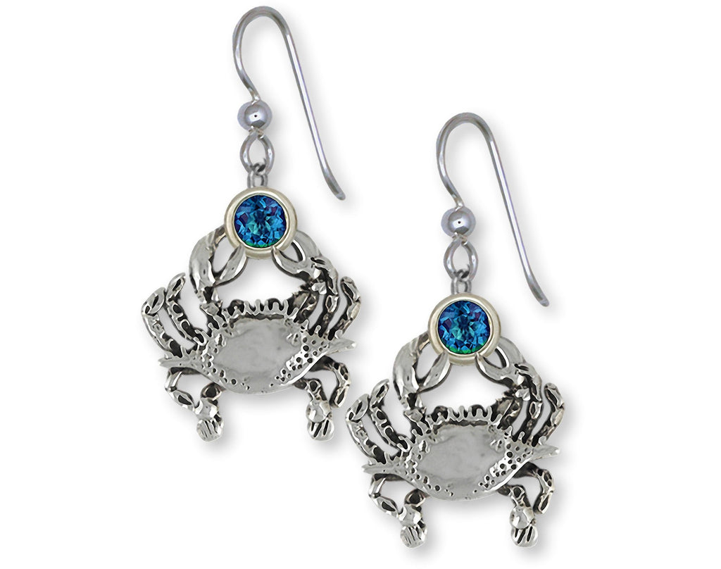 Crab Charms Crab Earrings Sterling Silver Crab Birthstone Jewelry Crab jewelry