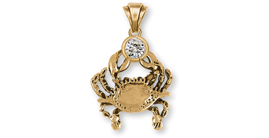 Crab Charms Crab Pendant 14k Gold Crab Birthstone Jewelry Crab jewelry