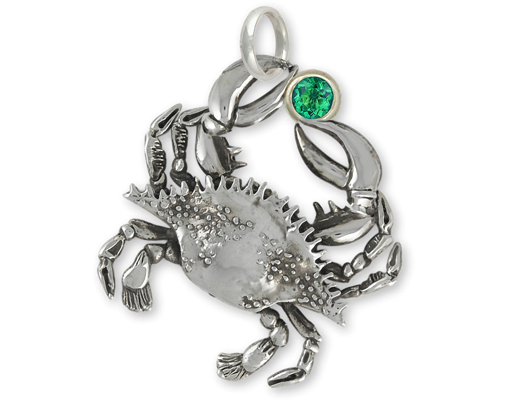 Crab Charms Crab Pendant Sterling Silver Crab Jewelry Crab jewelry