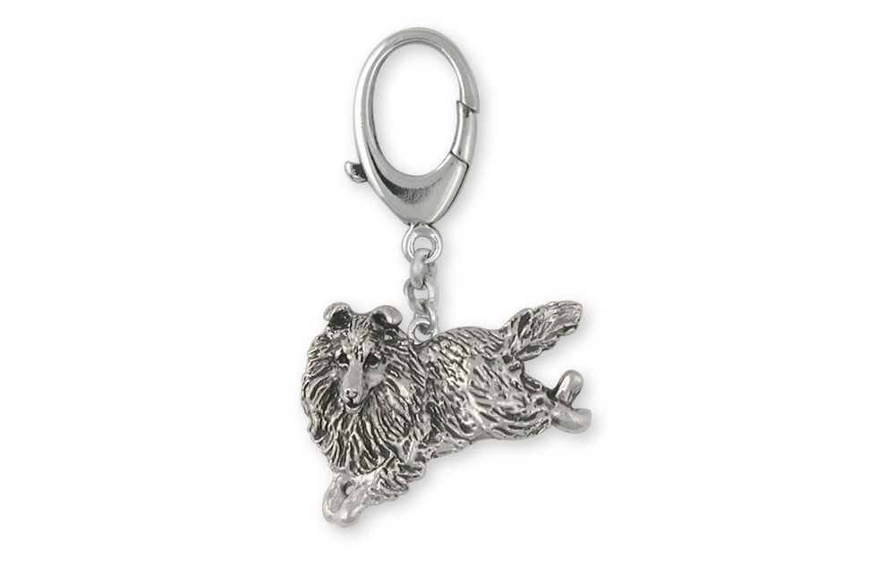 Collie Charms Collie Zipper Pull Sterling Silver Dog Jewelry Collie jewelry