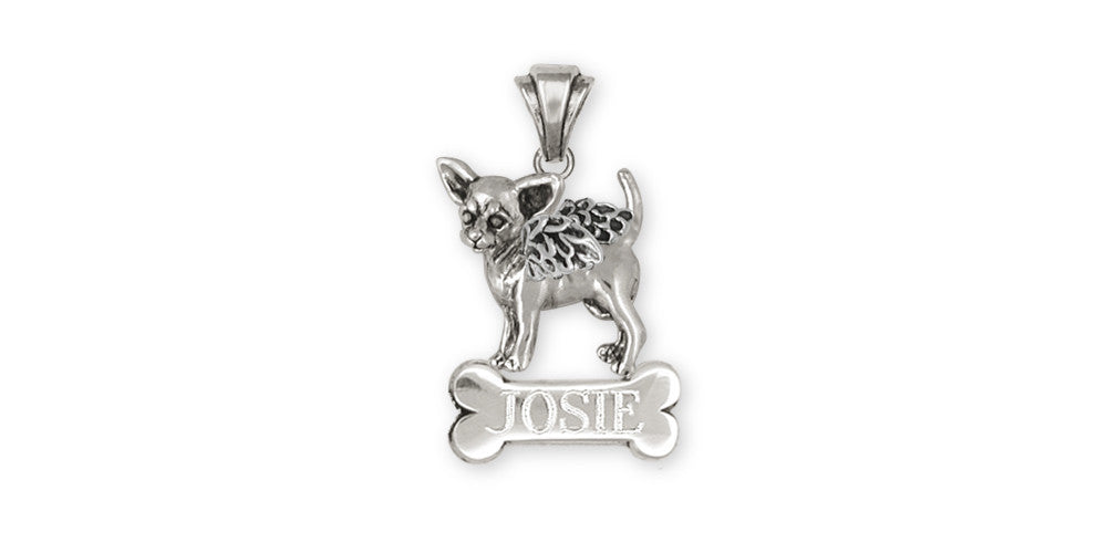 Chihuahua Angel Charms Chihuahua Angel Personalized Pendant Sterling Silver Dog Jewelry Chihuahua Angel jewelry