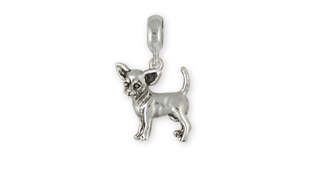 Chihuahua Charms Chihuahua Charm Slide Sterling Silver Dog Jewelry Chihuahua jewelry