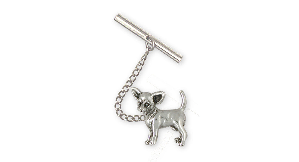 Chihuahua Charms Chihuahua Tie Tack Sterling Silver Dog Jewelry Chihuahua jewelry