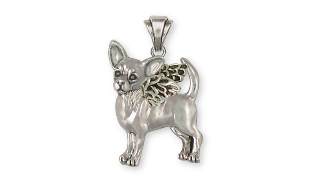 Chihuahua Angel Charms Chihuahua Angel Pendant Handmade Sterling Silver Dog Jewelry Chihuahua Angel jewelry