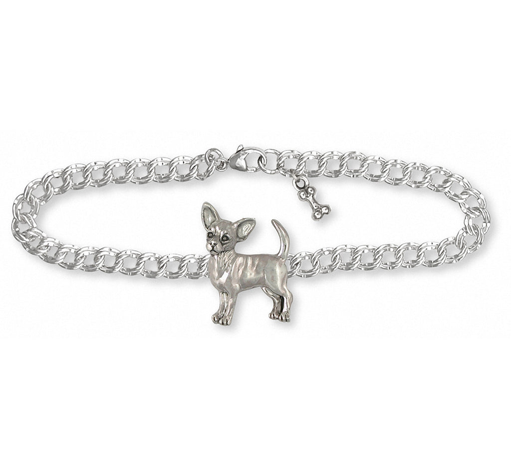 Chihuahua Charms Chihuahua Bracelet Sterling Silver Dog Jewelry Chihuahua jewelry