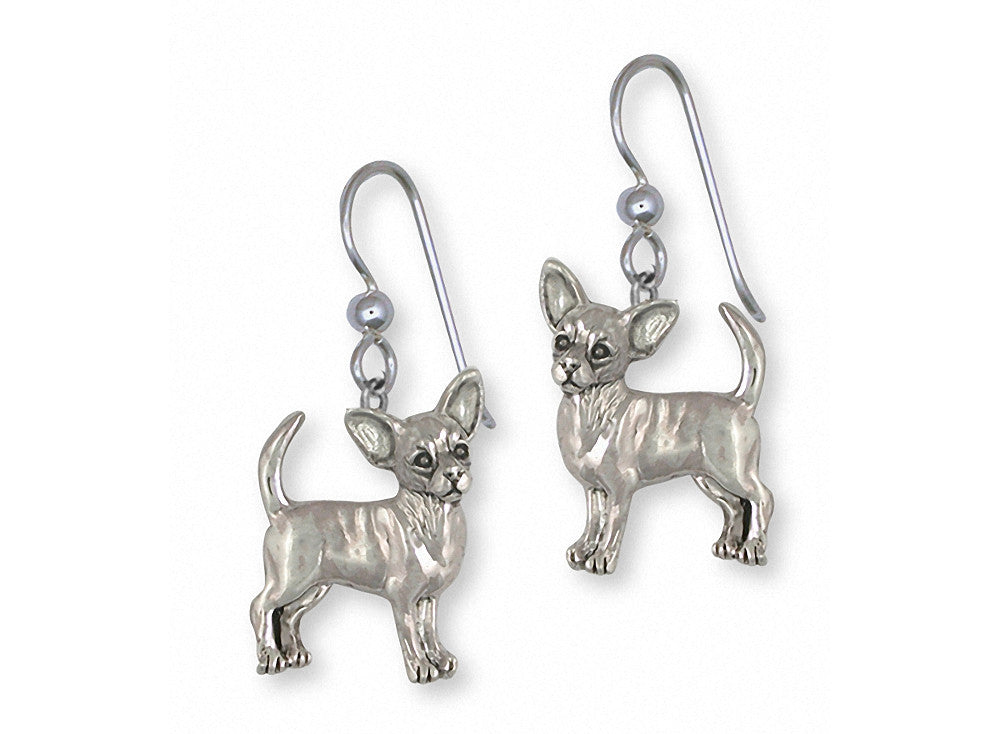 Chihuahua Charms Chihuahua Earrings Sterling Silver Dog Jewelry Chihuahua jewelry