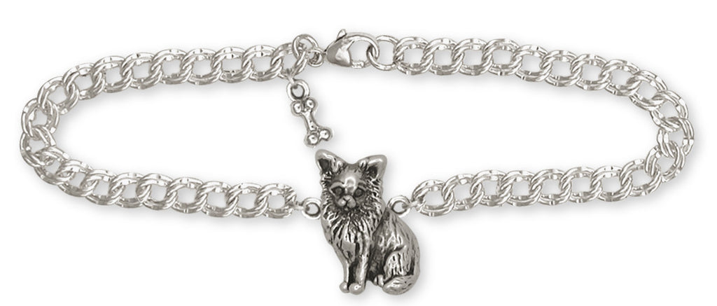 Long Hair Chihuahua Charms Long Hair Chihuahua Bracelet Sterling Silver Dog Jewelry Long Hair Chihuahua jewelry