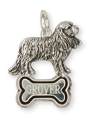 Cavalier King Charles Spaniel Personalize Charm Jewelry Handmade Sterling Silver CV10-BNC