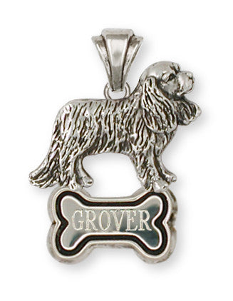 Cavalier King Charles Spaniel Personalize Pendant Jewelry Handmade Sterling Silver CV10-BNP