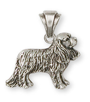 Cavalier King Charles Spaniel Pendant Jewelry Handmade Sterling Silver CV10-P