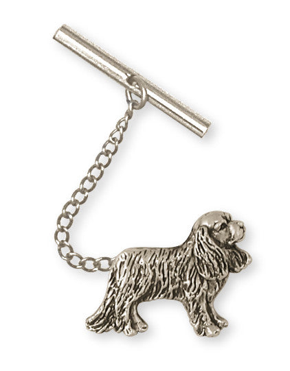 Cavalier King Charles Spaniel Tie Tack Or Lapelpin Jewelry Handmade Sterling Silver CV10-TT