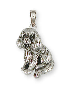 Cavalier King Charles Spaniel Pendant Jewelry Handmade Sterling Silver CV12-P
