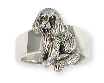 Cavalier King Charles Spaniel Ring Jewelry Handmade Sterling Silver CV12-R